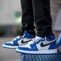 "Air Jordan 1 Retro High ""Game Royal"" Air Jordan Sneakers, Jordans Sneakers, Air Jordans, Jordan 1 Retro High, Urban Style, Shoe Game, Urban Fashion, Nike Air Force, Me Too Shoes"