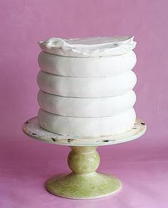 Cake Boss Icing Comb : Momma s 65th birthday cake - a tiered Cream Puff Cake ...