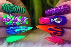 hansen chrome nail makeup inc nail makeup harley gardens hansen magical nail makeup prom dress makeup nail design hansen chrome nail makeup nail designs makeup design ten nail & makeup studio klang Glam Nails, Hot Nails, Bling Nails, Hair And Nails, Halloween Acrylic Nails, Best Acrylic Nails, Seasonal Nails, Holiday Nails, Colorful Nail Designs