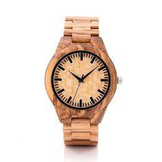 Eco-Friendly Bamboo Analog Wrist Watch