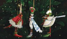 Patience Brewster Birds Tin Ornament set of 3 would be a whimsical addition to your Christmas tree!