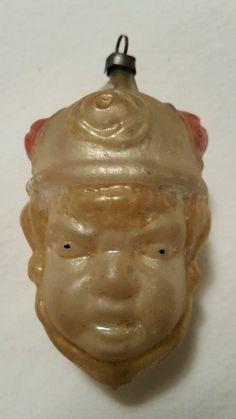 Victorian Double Sided Glass Prince Head German Christmas Ornament | eBay