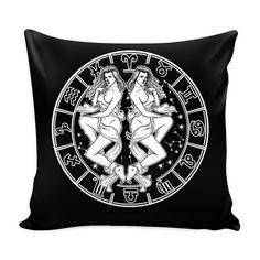 GEMINI Zodiac Pillow Cover Perfect Gift by ProsperousJewels
