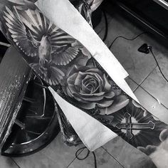 """Tattoo Trends - Image search results for """"Dove Bird Realistic Tattoos"""" - . - Tattoo Trends – Image search results for """"Dove Bird Realistic Tattoos"""" – – - Badass Sleeve Tattoos, Full Sleeve Tattoos, Tattoo Sleeve Designs, Jesus Tattoo Sleeve, Realistic Tattoo Sleeve, Trendy Tattoos, Tattoos For Guys, Men Tattoos, Tattoos With Roses"""