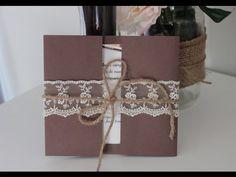 Como hacer tus invitaciones de boda. fáciles, bonitas y económicas! - YouTube