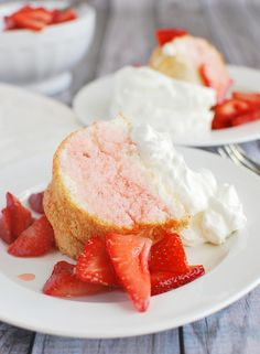 Angel Food Cake - perfect with fresh berries and a little whipped cream!
