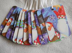 Snowman Gift Tag Christmas Holiday Gift Wrap by EllieMarieDesigns, $5.00