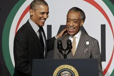 Obama and Sharpton have been accused of inflaming racial tensions in the wake of racially-charged sh [It's Show Time}