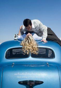 A Loving Couple on Something Vintage Something Blue