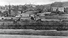 Old photograph of cottages and houses in Kinnoull, Perth , Perthshire , Scotland . This is a residential area of Perth by the River Tay, app. Perth Scotland, Old Photographs, Historical Photos, Tours, History, Interesting Stuff, Cottages, Places, Historical Pictures