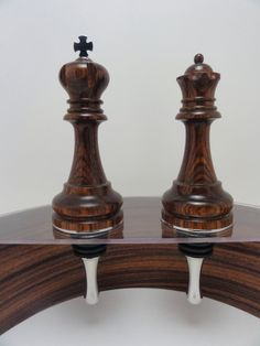 King and Queen Chess Piece Bottle Stopper Set by Woodsmithjewelers, $55.00