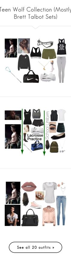 """Teen Wolf Collection (Mostly Brett Talbot Sets)"" by lewandowski2017 ❤ liked on Polyvore featuring NIKE, Gem&i, Crazy Dog, Under Armour, adidas, Calvin Klein, George, Chicwish, Verali and Ivy Park"