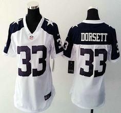 b9c045b832f Womens Dallas Cowboys Jersey 33 Tony Dorsett Nike White Thanksgiving Game  Jerseys ...