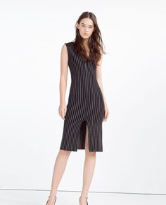Image 2 of STRAIGHT DRESS WITH FAUX LEATHER PIPING from Zara · Straight  DressWomen's DressesShift ...