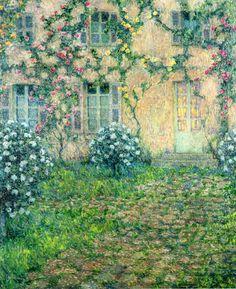 House with Roses - Henri Le Sidaner | Eva's blog