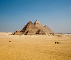 Pyramids of Giza, Egypt (The only one of the Seven Wonders of the Ancient World still standing.)