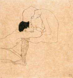Egon Schiele Lovers (1909)