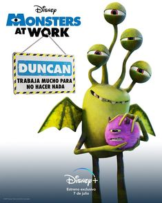 Disney Monsters, Disney Plus, Pixar, July 7, Fictional Characters, Finding Nemo 2003, The Incredibles 2004, Toy Story 1995, Monsters