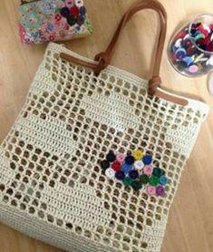 Marvelous Crochet A Shell Stitch Purse Bag Ideas. Wonderful Crochet A Shell Stitch Purse Bag Ideas. Filet Crochet, Bag Crochet, Crochet Market Bag, Crochet Shell Stitch, Crochet Handbags, Crochet Purses, Purse Patterns, Macrame Bag, Crochet Squares