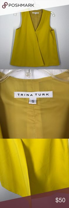 Trina Turk yellow blouse size small This Trina Turk blouse is like new. It is a very vibrant yellow. Clean lines. Trina Turk Tops Blouses