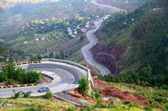 the drive from the hill-station murree to Islamabad