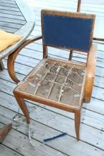 Diy Home Decor Dollar Store Furniture Makeover, Diy Furniture, Outdoor Furniture, Balcony Table And Chairs, Outdoor Chairs, Lounge Chairs, Side Chairs, French Provincial Chair, Comfortable Accent Chairs