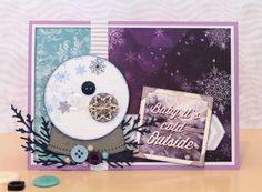 Card designed by Tracy McLennon featuring @bobunny and @Sizzix - this card was based on our monthly sketchy challenge! @ScrappyChick101 @cdnscrapbooker #cards #cardmaking #christmascards #scrapbooking