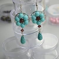 How to make vintage jewelry-a pair of fashion vintage jewelry earring