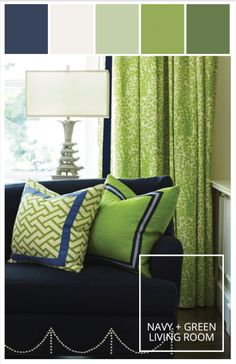 Motivation Monday | Seahawks Blue and Green Living Room