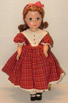 "! Vintage 1950's Madame Alexander Little Women ""beth"" Doll 14"" Tall Lot D34"