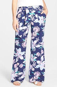 Women's Jessica Simpson 'Kingston' Floral Print Wide Leg Pants