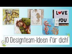 10 Ideen #7 | Ideen mit Stempel und Stanzen - YouTube Cover, Books, Youtube, Art, Thursday, Die Cutting, Stamps, Ideas, Art Background