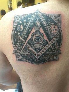 freemason tat - excellent work