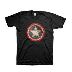 Marvel Captain America Logotype Cotton T-Shirt Apparel | IdolStore