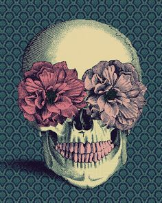 skull and flowers - absolutely phenomenal, i would rather this than a full blown sugar skull
