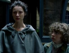 """Claire Fraser (Caitriona Balfe) and Fergus in Episode 207 """"Faith"""" of Outlander… Claire Fraser, Jamie Fraser, Outlander Casting, Outlander Tv Series, Fergus Outlander, Outlander Season 2 Episodes, Scottish Warrior, Dragonfly In Amber, Epic Story"""
