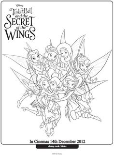 Tinkerbell neverbeast coloring pages ~ Gruff Coloring Page with Fawn and Tinker bell | Tinker ...