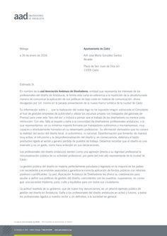 Reivindicación de la AAD a propósito de la actitud del Ayuntamiento de Cádiz