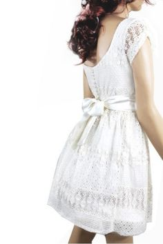 Ivory romantic bridesmaid / evening / lace by UpToDateFashion, $49.99