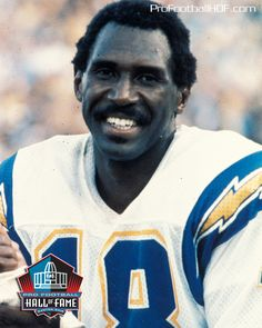 Pro Football Hall of Fame Class of 1996, Charlie Joiner. Click on image for his complete HOF bio.  #Chargers #Movember