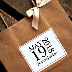 Personalized Bold Date Wedding Welcome Bag by BeforeTheIDos