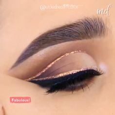 Eye Makeup Cut Crease, Pink Eye Makeup, Glitter Eye Makeup, Eye Makeup Steps, Colorful Eye Makeup, Simple Makeup, Makeup Tips, Uk Makeup, Makeup Online