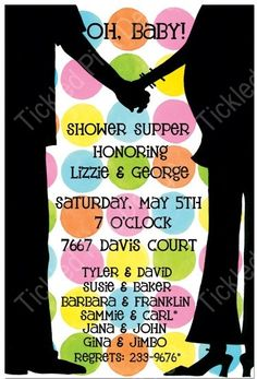 Couple's Baby Shower Invitation  REALLY LOVE THIS ONE!!!