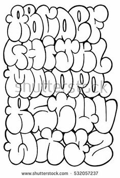 cute bubble letters for titles and headings in notebooks and journals