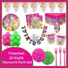 Tinkerbell Ekonomik Parti Seti (20 Kişilik)