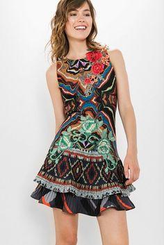 71ceea60344c8 Robe By Lacroix Desigual Femme, Robe, Vetement Desigual, Vêtements Femmes,  Style,