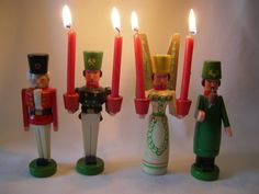 Lovely German Vintage Christmas Wood Angel, Miner,Forester and Nutcracker Seiffen from the Erzgebirge from the 70 ies
