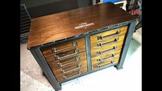 Make an Industrial Drawer Cabinet - Forme Industrious - YouTube