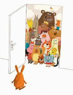 © Delphine Durand - Gros-Lapin (Naïve) /Big rabbit's bad mood (Chronicle books):