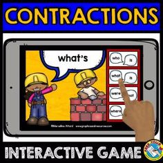 CONSTRUCTING CONTRACTIONS GAME 2 (CONSTRUCTION THEME GRAMMAR DIGITAL TASK CARDS)    A fun construction theme contractions game where children read each contraction and click the button with the two words that make up that contraction. Perfect to practice contractions and expanded form!    Keywords: word work, literacy game, contractions game, contractions digital task cards, expanded form, grammar game, construction theme game, constructing contractions